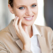 Pretty young businesswoman closeup portrait — Stock Photo