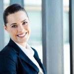 Pretty young businesswoman closeup portrait — Stock Photo