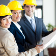 Group of professional construction managers — Stock Photo