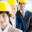 Foto Stock: Group of construction manager portrait
