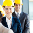 Group of architects closeup portrait — Stock Photo