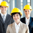 Group of construction businessman and businesswoman — Stock Photo