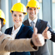 Group of construction manager thumbs up — Stock Photo #12287939