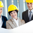 Group of construction managers discussing project  — Stock Photo