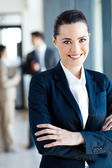 Beautiful young businesswoman portrait in office — Foto de Stock