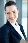 Beautiful young businesswoman closeup portrait — Stock Photo