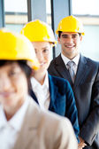 Group of construction manager portrait — Stock Photo