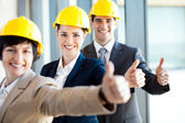 Group of construction manager thumbs up — Stock Photo