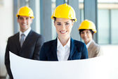 Beautiful young female architect portrait — Stock Photo