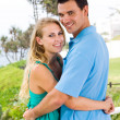 Lovely young couple hugging — Stock Photo #12442490