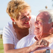 Happy laughing senior couple — Foto Stock