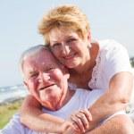 Happy senior couple closeup — Stock Photo
