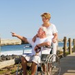 Royalty-Free Stock Photo: Loving senior couple on beach