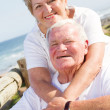 Stock Photo: Loving senior couple smiling