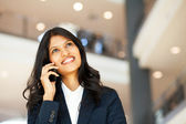 Asian businesswoman talking on mobile phone — Stock Photo