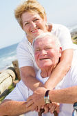 Loving senior couple smiling — Stock Photo