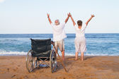 Senior couple free from illness — Stock Photo