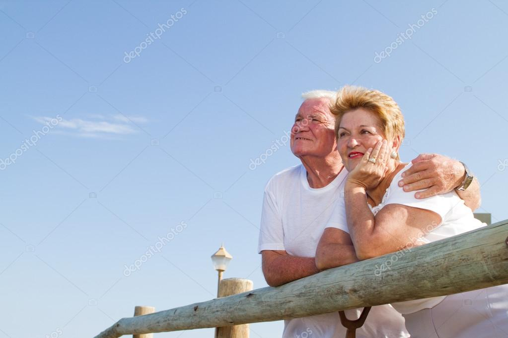 Senior couple looking away  Stock Photo #12485920