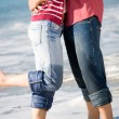 Couple on beach — Foto de Stock