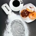 Conceptual photo: junk food is a crime — Stock Photo