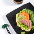 Japanese sushi sashimi — Stock Photo
