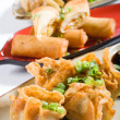 Deep fried chinese snacks - Stock Photo