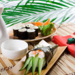 Japanese food seaweed roll — Stock Photo