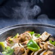 Chinese pork meat stew with vegetables - Stock Photo