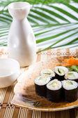 Japanese sushi roll — Stock Photo