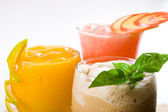 Mixed fruit drinks — Stock Photo