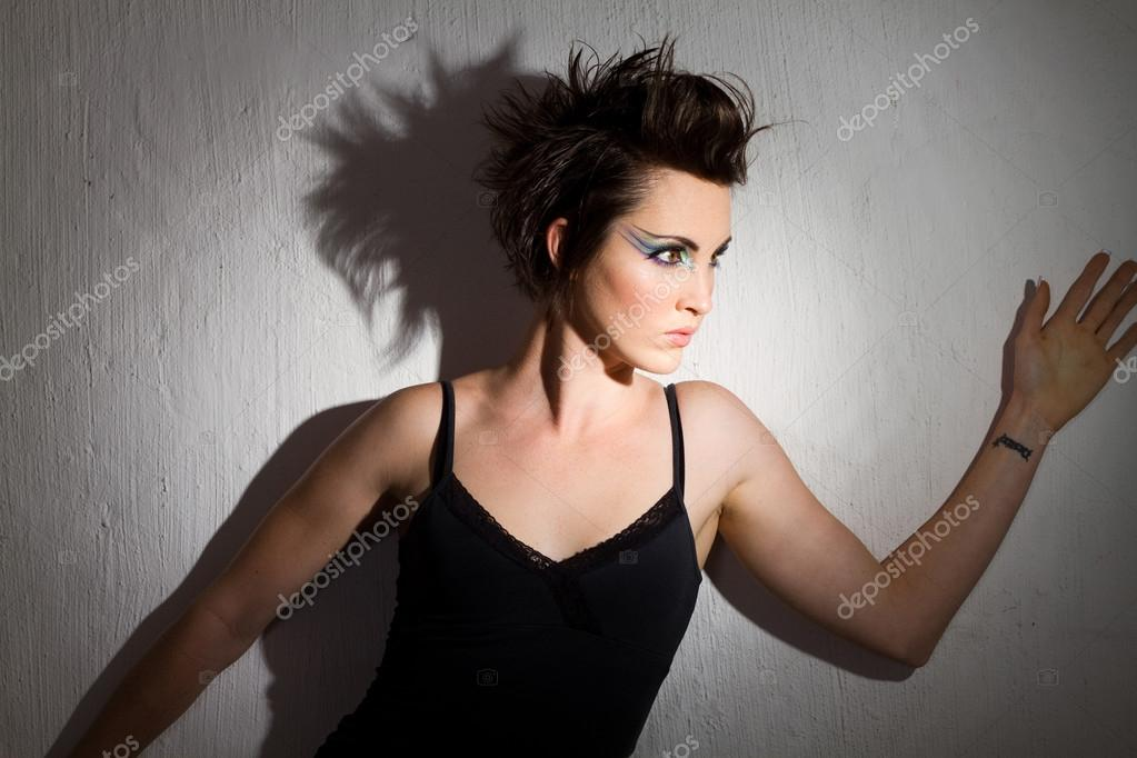 Fashion model in light — Stock Photo #14817665