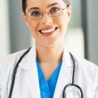 Attractive young medical worker closeup portrait in office — Stock Photo