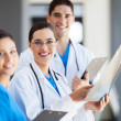 Group of medical workers working together — Stock Photo