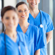 Stock Photo: Portrait of group hospital staff in office