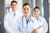 Group of medical workers portrait in hospital — Stock Photo