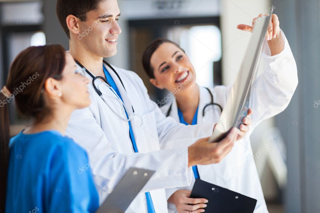 Group of healthcare workers working together  Stock Photo #14901421