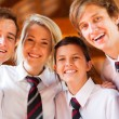 Group of happy high school students closeup — Stock Photo #14966799