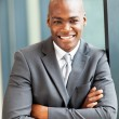 Happy young african american businessman portrait — Stock Photo