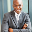 Stock Photo: Happy young african american businessman portrait