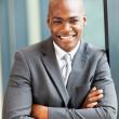 Счастливые молодые афро-американский бизнесмен портрет — Стоковое фото