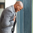 Young african american businessman depression — Stock Photo