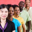 Group of young diversity — Stock Photo