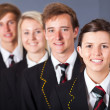 Stock Photo: Group of high school students portrait