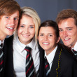 Group of happy high school students closeup portrait — Stock Photo #14966483