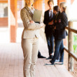Full length portrait of a female school teacher — Stockfoto