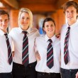 Group of high school students portrait - Stock Photo