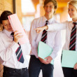 High school girl being bullied by classmates - Foto Stock