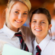Happy high school friends closeup portrait — Stock Photo #14966909