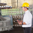 Textile prodcution manager working inside factory — Stock Photo