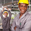 African american textile worker portrait in factory — Stock Photo #14968137